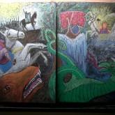 """""""El Racnaroc, el ocaso de los dioses"""" Mitología nórdica. 4to grado 2013. Realizado por Diego Moller. Participación de Florencia Toscani"""