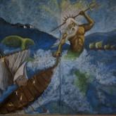 Poseidón, Mitología griega. 5to grado 2014. Realizado por Diego Moller. Participación de Florencia Toscani
