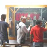 Confección del Pizarrón de Séptimo, Alejandro Abalo, Gustavo Sonzini y Diego Moller