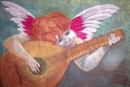 3er grado Pintor Italiano, músico tocando la  bandolina. Alejandro Abalo